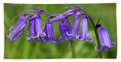 English Bluebells 1 Beach Towel by Shirley Mitchell