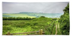 English Country Landscape 2 Beach Sheet by Wallaroo Images