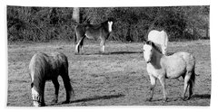 English Horses Beach Towel