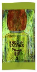 Beach Towel featuring the painting English Leather by P J Lewis