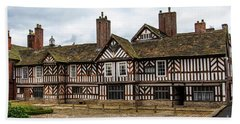 Historic Tudor Timbered Hall Beach Towel
