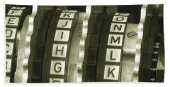 Enigma Cipher Machine Beach Towel