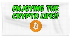 Enjoy The Crypto Life #2 Beach Sheet