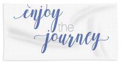 Enjoy The Journey Beach Sheet