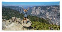 Enjoying At Yosemite Summit Beach Sheet