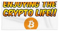 Enjoying The Crypto Life#1 Beach Sheet