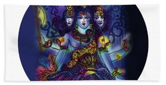 Enlightened Shiva Beach Towel