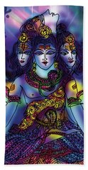 Enlightened Shiva Beach Sheet