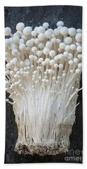 Enoki Mushrooms Beach Sheet by Elena Elisseeva