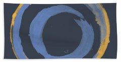 Beach Sheet featuring the painting Enso T Blue Orange by Julie Niemela