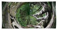 Beach Towel featuring the photograph Enter The Root Cellar by Gary Smith