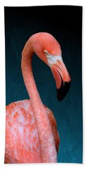 Entirely Unimpressed Flamingo Beach Towel