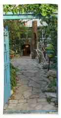 Beach Towel featuring the photograph Entrance Door To The Artist by Yoel Koskas