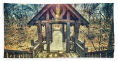 Beach Towel featuring the photograph Entrance To 7 Bridges - Grant Park - South Milwaukee  by Jennifer Rondinelli Reilly - Fine Art Photography
