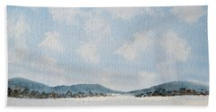Entrance To Moulters Lagoon From Bathurst Harbour Beach Towel