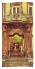 Beach Towel featuring the photograph Entrance To Passage. Series Golden Prague by Jenny Rainbow