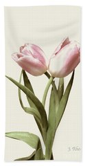 Entwined Tulips Beach Towel by Jeannie Rhode