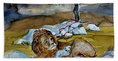 Beach Towel featuring the painting Ephesians 2 13 by Mindy Newman