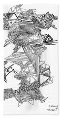Epitaxy Ink Drawing By Regina Valluzzi Beach Sheet