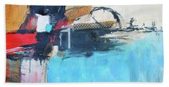 Beach Towel featuring the painting Equalibrium by Ron Stephens