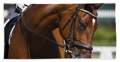 Equestrian At Work Beach Sheet by Wes and Dotty Weber