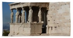 Erechteion With Nike Temple Beach Towel