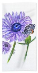 Erika's Butterfly Three Beach Towel by Clyde J Kell