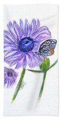 Erika's Butterfly Three Beach Sheet