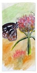 Erika's Butterfly Two Beach Towel by Clyde J Kell