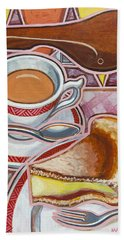 Eroica Britannia And Bakewell Pudding On Pink Beach Towel