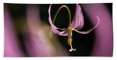Beach Sheet featuring the photograph Erythronium Revolutum -365-35 by Inge Riis McDonald