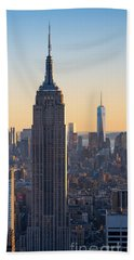 Esb And Freedom Tower Beach Towel