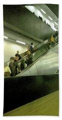 Beach Towel featuring the photograph Escalator Tate Modern by Anne Kotan