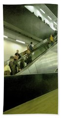 Beach Sheet featuring the photograph Escalator Tate Modern by Anne Kotan