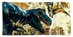 Escape From Jurassic Park Beach Towel by Pennie  McCracken