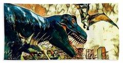 Escape From Jurassic Park Beach Sheet