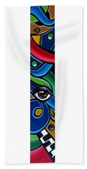 Escape To Venice - Abstract Art Painting, Modern Abstract Eye Art - Ai P. Nison Beach Towel