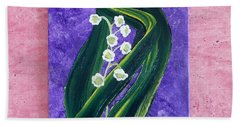 Escaping Winter Lilly Of The Valley Beach Towel