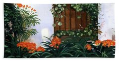 Beach Towel featuring the painting Espana by Lynne Reichhart