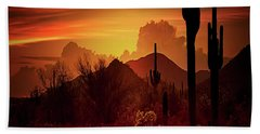 Beach Towel featuring the photograph Essence Of The Southwest - Square  by Saija Lehtonen