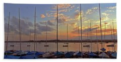 Beach Towel featuring the photograph Estuary Evening by Anne Kotan