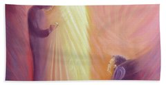 Jesus Christ Comes To Us In Holy Communion Beach Towel