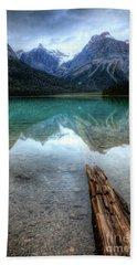Eternal Reflections Emerald Lake Yoho National Park British Columbia Canada Beach Sheet