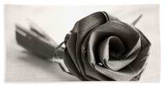Eternal Rose In Sepia Beach Towel