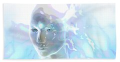 Beach Towel featuring the digital art Ethereal Spirit by Shadowlea Is