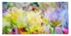 Ethereal Flowers Beach Sheet