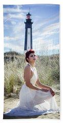 Ethereal Gaze Beach Sheet by Stefanie Silva