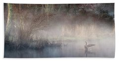 Beach Towel featuring the photograph Ethereal Goose by Bill Wakeley