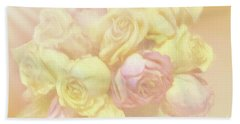 Ethereal Rose Bouquet Beach Sheet by Linda Phelps
