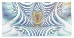 Beach Towel featuring the digital art Ethereal Treasure by Jutta Maria Pusl